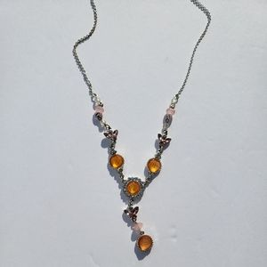 Necklace with Golden Jewels